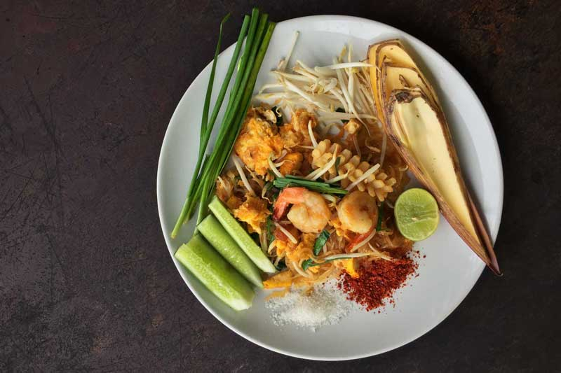Learning to cook Pad Thai in Khao Lak