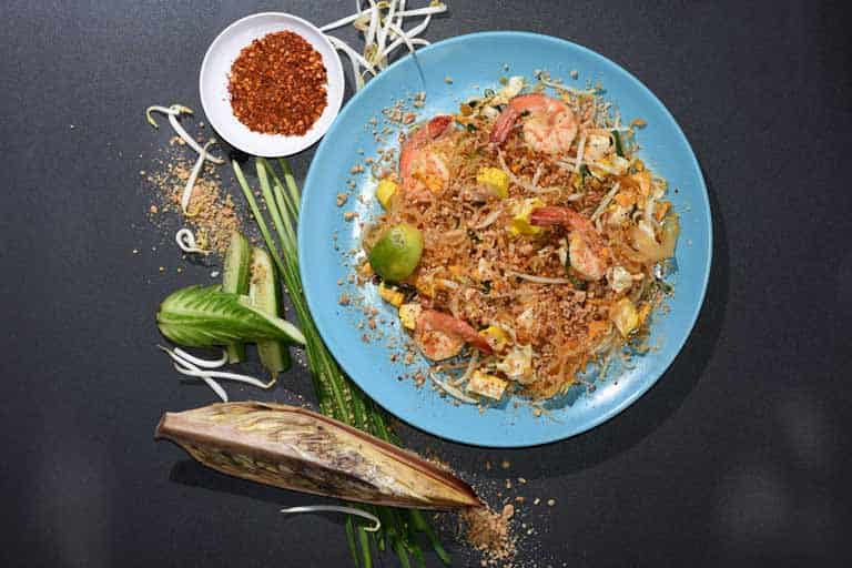 A delicious looking plate of Phad Thai